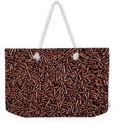 Chocolate Vermicelli Background Weekender Tote Bag