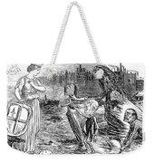 Cholera Cartoon, 1858 Weekender Tote Bag