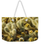 Cholla Cactus Garden Mirage Weekender Tote Bag