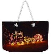 Choo Choo Train In Lights Weekender Tote Bag