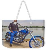 Chopper Motorcycle Weekender Tote Bag