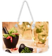 Chopping Herbs Weekender Tote Bag by Amanda Elwell