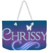 Chrissy Name Art Weekender Tote Bag