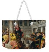 Christ Among The Doctors In The Temple Weekender Tote Bag