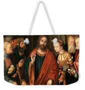 Christ And The Adulteress Weekender Tote Bag
