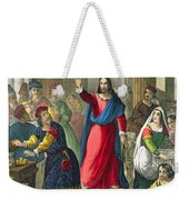 Christ Cleanses The Temple Weekender Tote Bag