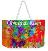 Christ Has Risen Happy Easter Weekender Tote Bag