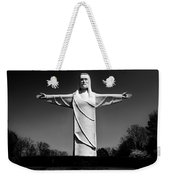 Christ Of The Ozarks Weekender Tote Bag by Benjamin Yeager