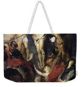 Christ On The Cross Between The Two Thieves Weekender Tote Bag