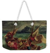 Christ On The Sea Of Galilee Weekender Tote Bag by Delacroix