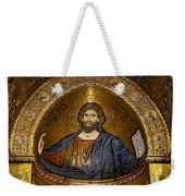 Christ Pantocrator Mosaic Weekender Tote Bag by RicardMN Photography