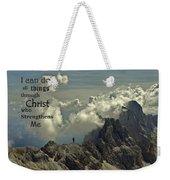 Christ Strengthens Me Weekender Tote Bag