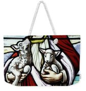 Christ The Good Shepherd With His Flock Weekender Tote Bag