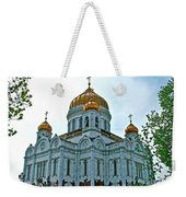Christ The Savior Cathedral In Moscow-russia Weekender Tote Bag