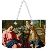 Christ With Mary And Martha Weekender Tote Bag