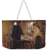 Christ With The Peasants Weekender Tote Bag by Fritz von Uhde