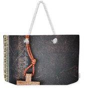 Christian Cross On Bible Weekender Tote Bag