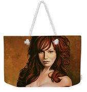 Christina Hendricks Painting Weekender Tote Bag