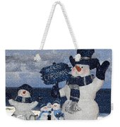 Christmas - Snowmen Collection - Family - Peace - Snow Weekender Tote Bag