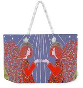 Christmas 77 Weekender Tote Bag by Gillian Lawson
