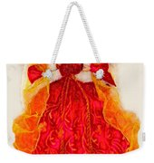 Christmas Angle Card Weekender Tote Bag