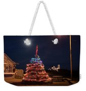 Christmas At Maines Nubble Lighthouse Weekender Tote Bag