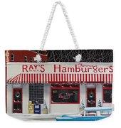 Christmas At Ray's Diner Weekender Tote Bag by Catherine Holman