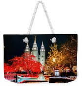 Christmas At Temple Square Weekender Tote Bag