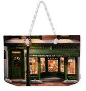 Christmas At The Bookstore Of Gloucester Weekender Tote Bag
