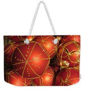 Christmas Balls In Red And Gold Weekender Tote Bag