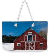 Christmas Barn Weekender Tote Bag by Edward Fielding