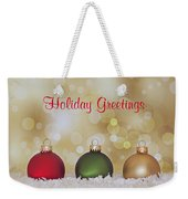 Christmas Baubles Weekender Tote Bag
