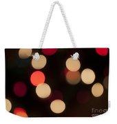 Christmas Bokeh Lights Weekender Tote Bag