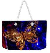 Christmas Butterfly Weekender Tote Bag