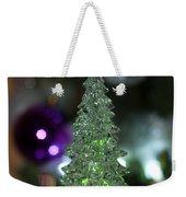 A Christmas Crystal Tree In Green  Weekender Tote Bag