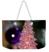 A Christmas Crystal Tree In Pink  Weekender Tote Bag