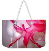Christmas Cactus And Two Glasses - Merry Christmas Weekender Tote Bag