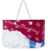 Christmas Cake Weekender Tote Bag by Anne Gilbert