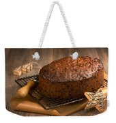 Christmas Cake With Knife Weekender Tote Bag by Amanda Elwell