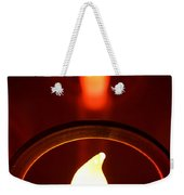 Christmas Candle Reflection Weekender Tote Bag