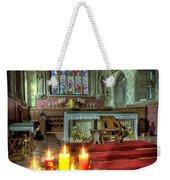 Christmas Candles Weekender Tote Bag by Adrian Evans