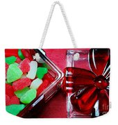 Christmas Candy - Candy Dish - Sweets - Treats Weekender Tote Bag