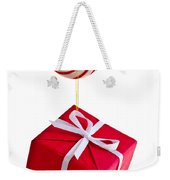 Christmas Candy Cane And Present Weekender Tote Bag by Elena Elisseeva