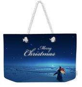 Christmas Card - Penguin Blue Weekender Tote Bag
