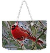 Christmas Cardinal Weekender Tote Bag