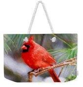 Christmas Cardinal - Male Weekender Tote Bag