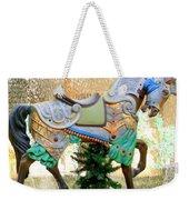 Christmas Carousel Warrior Horse-1 Weekender Tote Bag