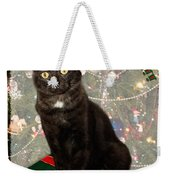 Christmas Cat Weekender Tote Bag