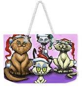 Christmas Cats Weekender Tote Bag