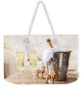 Christmas Champagne Weekender Tote Bag